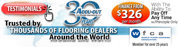Trusted by Thousands of Flooring Dealers around the World -- Financing from $326 per month